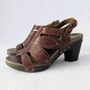 Dansko Nina Slingback Floral Cutout Heeled Sandals